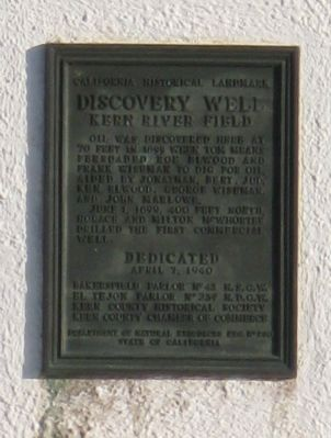Discovery Well Marker Photo, Click for full size