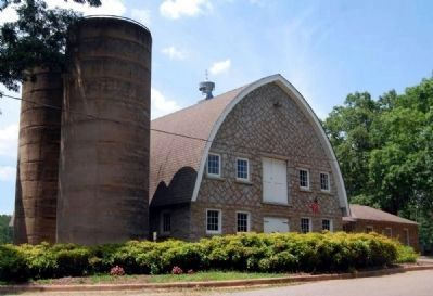 John De La Howe Barn and Silos -<br>Front (East) Side image. Click for full size.