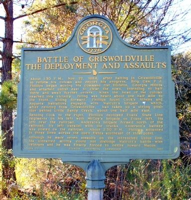 Battle of Griswoldville The Deployment and Assaults Marker image. Click for full size.