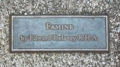 "Theobald Wolfe Tone Memorial ""Famine"" Marker image. Click for full size."