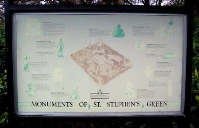 Monuments of St. Stephen's Green Marker image. Click for full size.