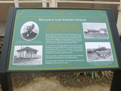 Miller and Lux Survey Office Marker image. Click for full size.