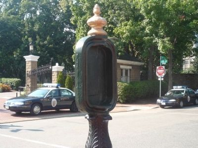 """Art on Call"" - Restored Police Call Box in Georgetown image. Click for full size."