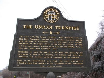 The Unicoi Turnpike Marker image. Click for full size.