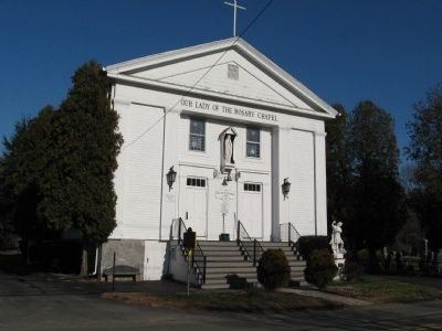 Birdsey's Plain Methodist Church and Marker image. Click for full size.