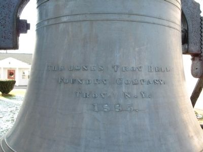 Inscription on the bell image. Click for full size.