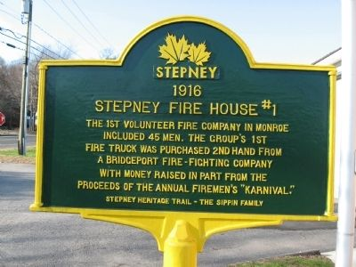 Stepney Fire House #1 Marker image. Click for full size.