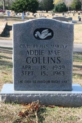 Addie Mae Collins Gravestone (1949-1963) image. Click for full size.