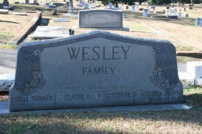 Cynthia Dionne Wesley Gravestone (4/30/49-9/15/63) image. Click for full size.