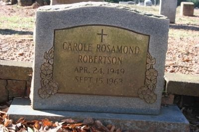 Carole Rosamond Robertson Apr 24. 1949 Sept 15, 1963 image. Click for full size.