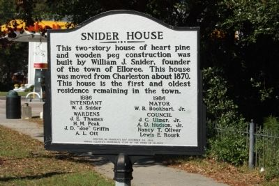 Snider House Marker image. Click for full size.