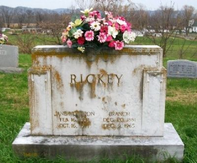 Wesley Branch Rickey Grave Marker image. Click for full size.