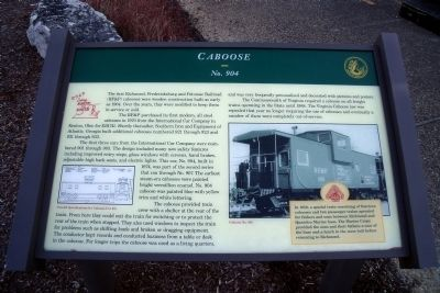 Caboose Marker Photo, Click for full size