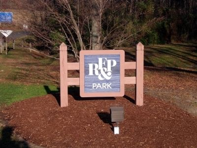 RF&P Park entrance on Meadow Farm Drive Photo, Click for full size