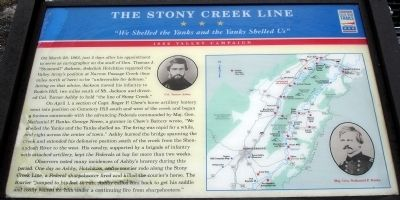 The Stony Creek Line Marker image. Click for full size.