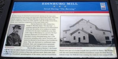 Edinburg Mill Marker image. Click for full size.
