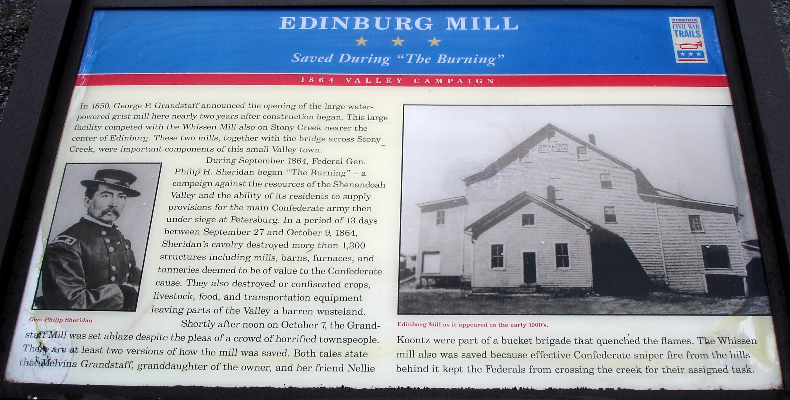 Edinburg Mill Marker
