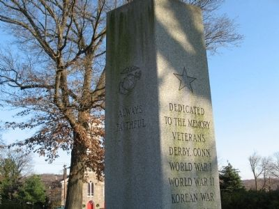 Derby Veterans Monument Photo, Click for full size
