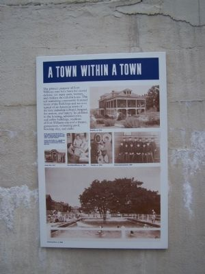 A Town Within A Town Marker image. Click for full size.