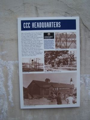 CCC Headquarters Marker image. Click for full size.