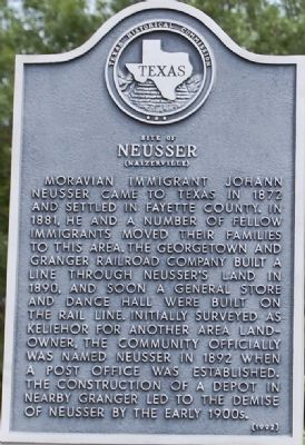 Site of Neusser (Naizerville) Marker image. Click for full size.