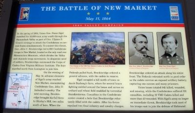 The Battle of New Market Marker image. Click for full size.