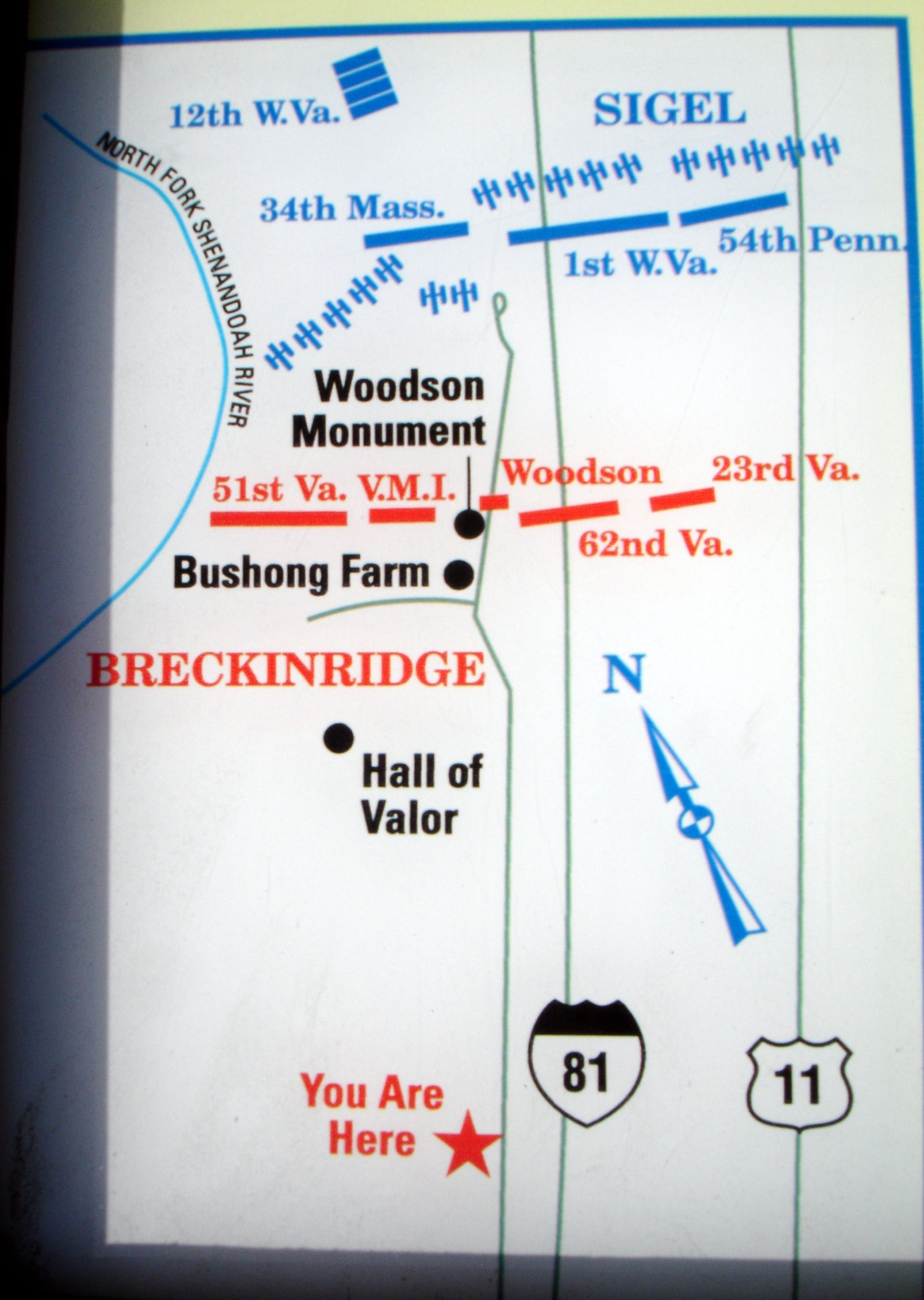 Close-up of Map on Marker