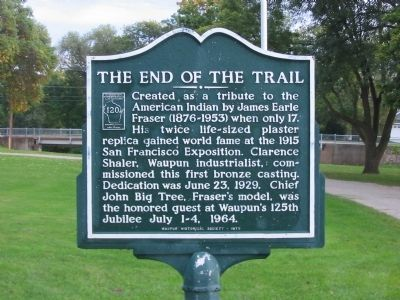 The End of the Trail Marker image. Click for full size.