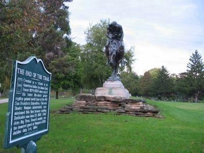 The End of the Trail Marker and Statue image. Click for full size.