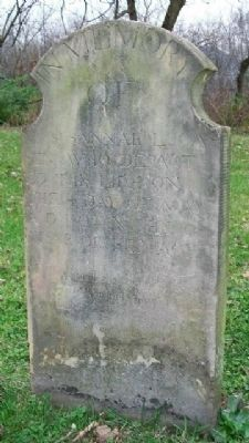 Susannah Lucas, First Burial in Lucasville Cemetery, c.1809 image. Click for full size.