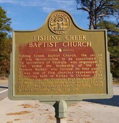 Fishing Creek Baptist Church Marker image. Click for full size.