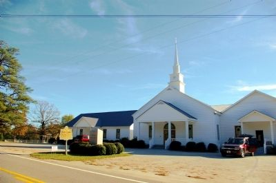 Fishing Creek Baptist Church Marker and Church image. Click for full size.