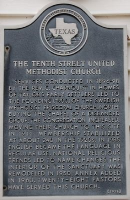 The Tenth Street United Methodist Church Marker image. Click for full size.