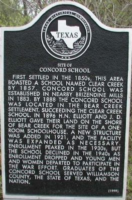 Site of Concord School Marker image. Click for full size.