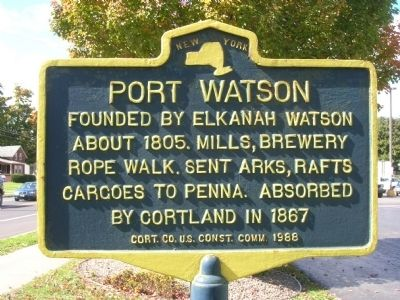 Port Watson Marker in Cortland, NY image. Click for full size.