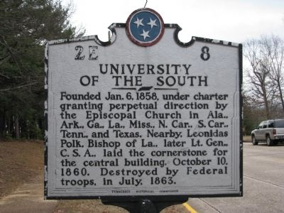 University of the South Marker Photo, Click for full size