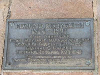 Edmund Kirby Smith plaque image. Click for full size.