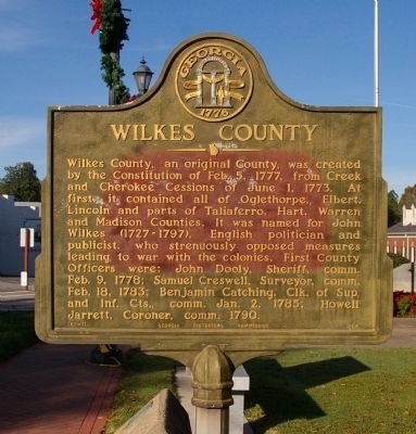 Wilkes County Marker Photo, Click for full size