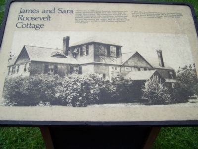 James and Sara Roosevelt Cottage Marker image. Click for full size.