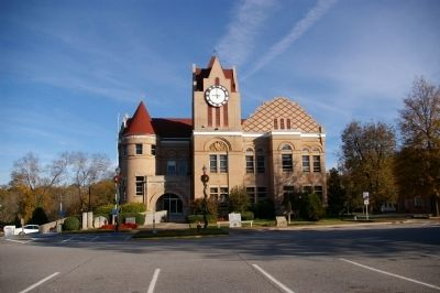 Wilkes County Marker and Courthouse Photo, Click for full size