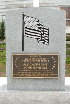 Pike County Veterans Memorial Marker image. Click for full size.