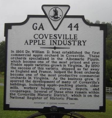 Covesville Apple Industry Marker image. Click for full size.