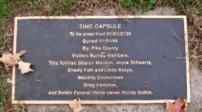 Canal Park Time Capsule Marker image. Click for full size.