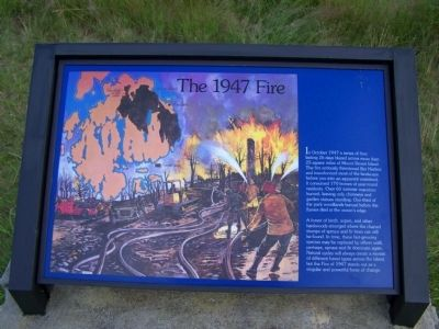 The 1947 Fire Marker image. Click for full size.