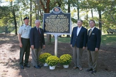 Unveiling and Dedication of the Lyman Ward Military Academy Marker image. Click for full size.