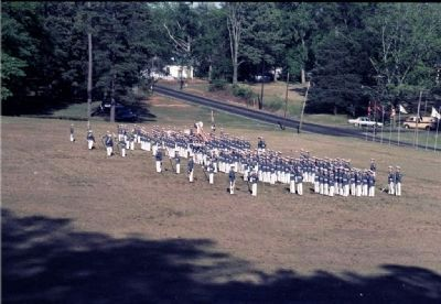 Cadet Corp In Formation For Parents Day Parade 1986 image. Click for full size.