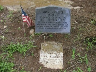 Adam Lawrence Tombstone image. Click for full size.