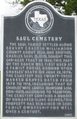 Saul Cemetery Marker image. Click for full size.