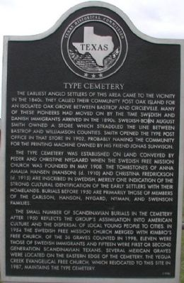 Type Cemetery Marker image. Click for full size.