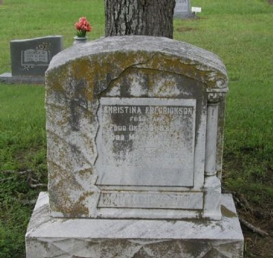 Christina Fredrickson Tombstone image. Click for full size.